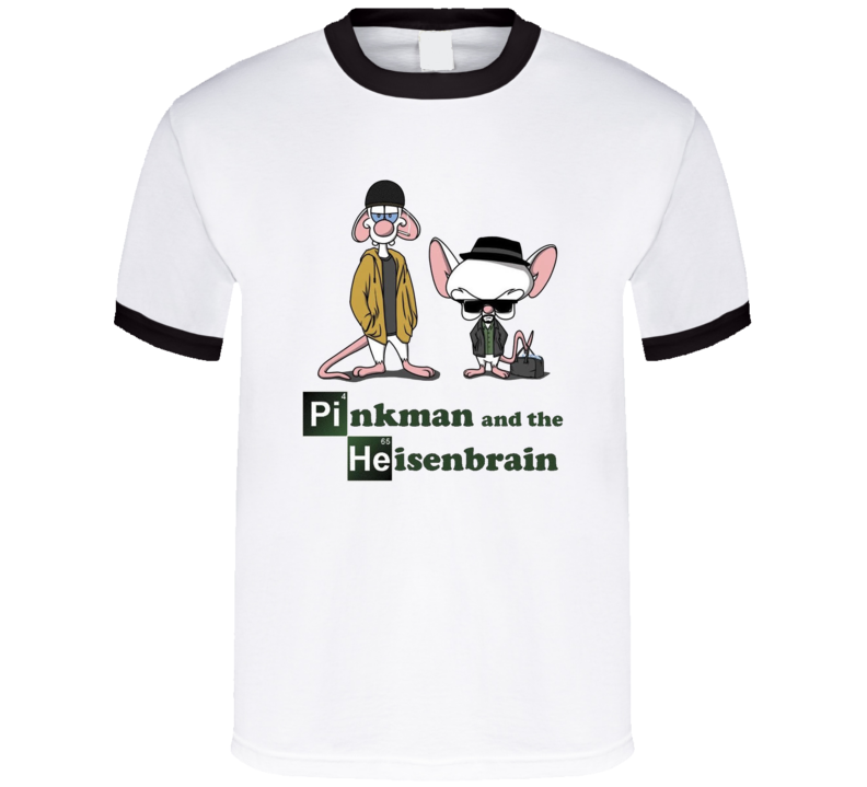 Breaking Bad Pinky And The Brain Pinkman And Heisenbrain T Shirt