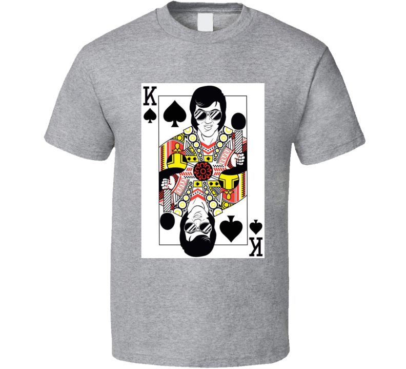 Elvis Presley The King Playing Card T Shirt
