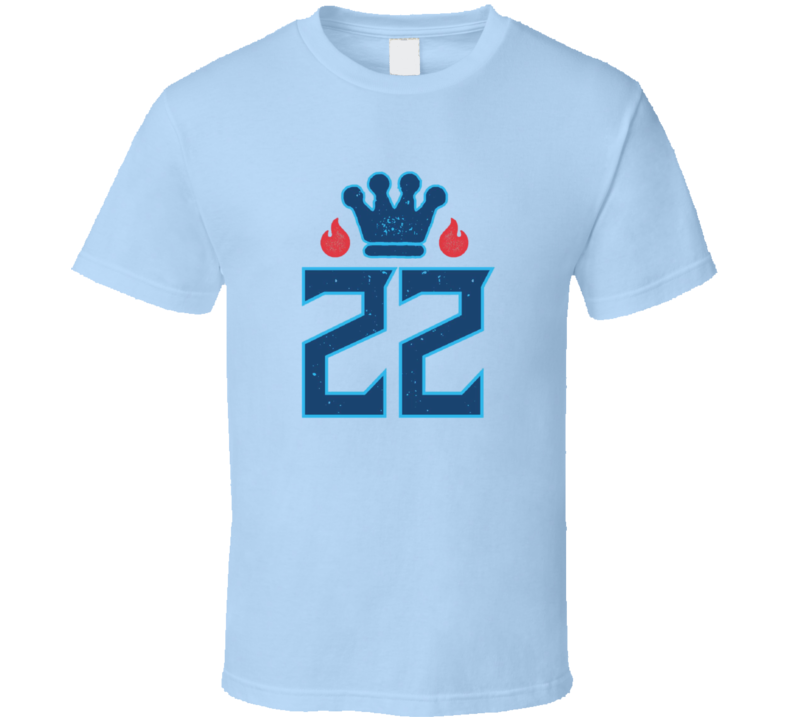 King Derrick Henry 22 Crown Tennessee T Shirt