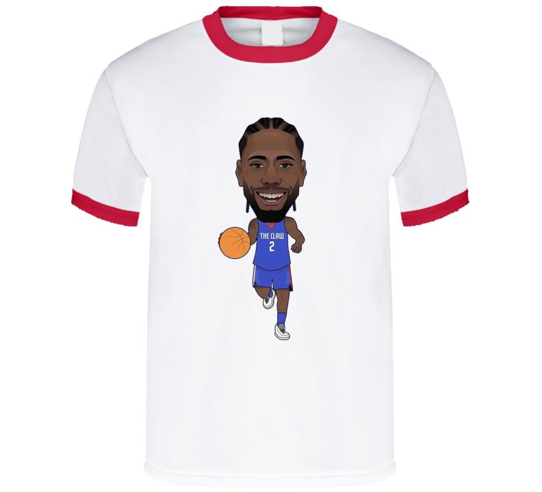 Kawhi Leonard The Claw Los Angeles Basketball Caricature T Shirt