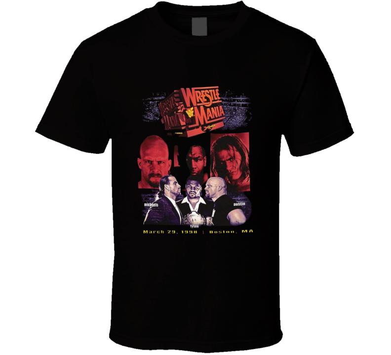 Wrestlemania X-raided 1998 Popular Wrestlers Sports Fan T Shirt