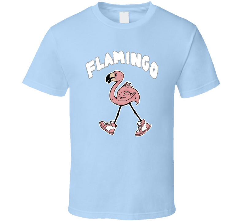 Flamingo In Pink Tennis Shoes T Shirt