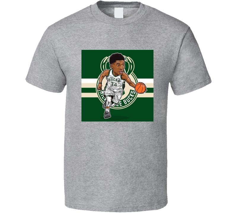 Giannis Antetokounmpo Milwaukee Basketball Caricature T Shirt
