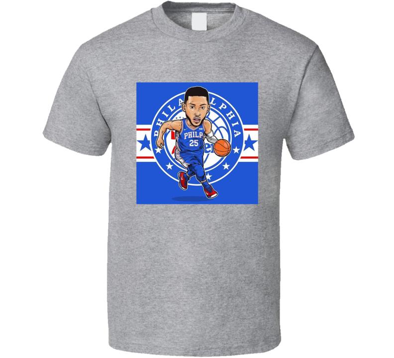 Ben Simmons Philadelphia Basketball Caricature T Shirt