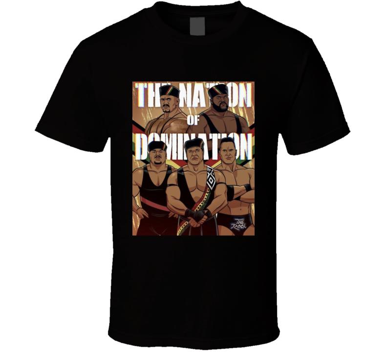 Nation Of Domination Faarooq Kama Rock T Shirt