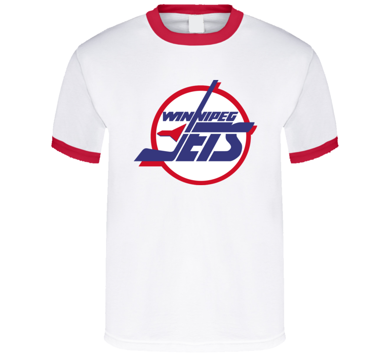 Winnipeg Jets Logo Retro Hockey T Shirt