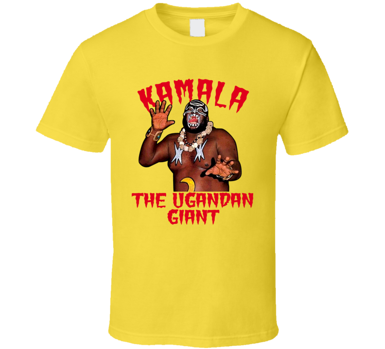 Kamala The Ugandan Giant Wrestling Legend T Shirt