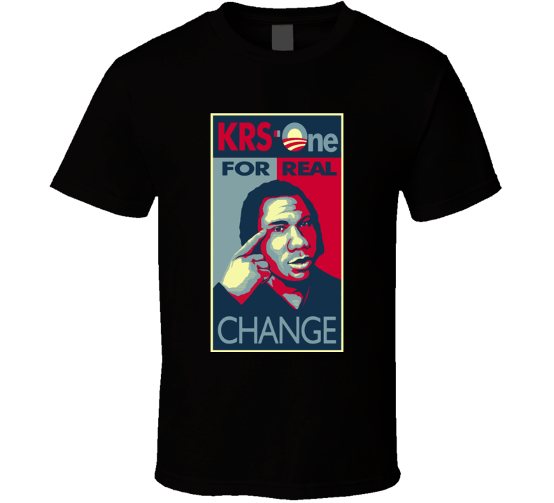 Krs One For Real Change Rapper T Shirt
