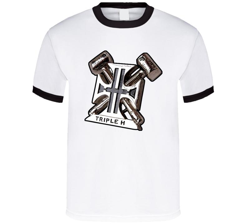 Tiple Hhh Logo Degeneration X T Shirt