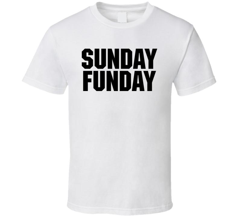 Sunday Funday Vinny Jersey Shore T Shirt White