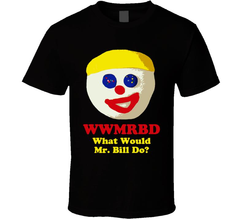 Wwmrbd Mr Bill Claymation Mad Tv Black T Shirt