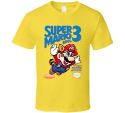 Super Mario 3 NES Game Cover T Shirt
