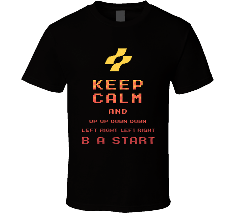 Konami Code Keep Calm T Shirt