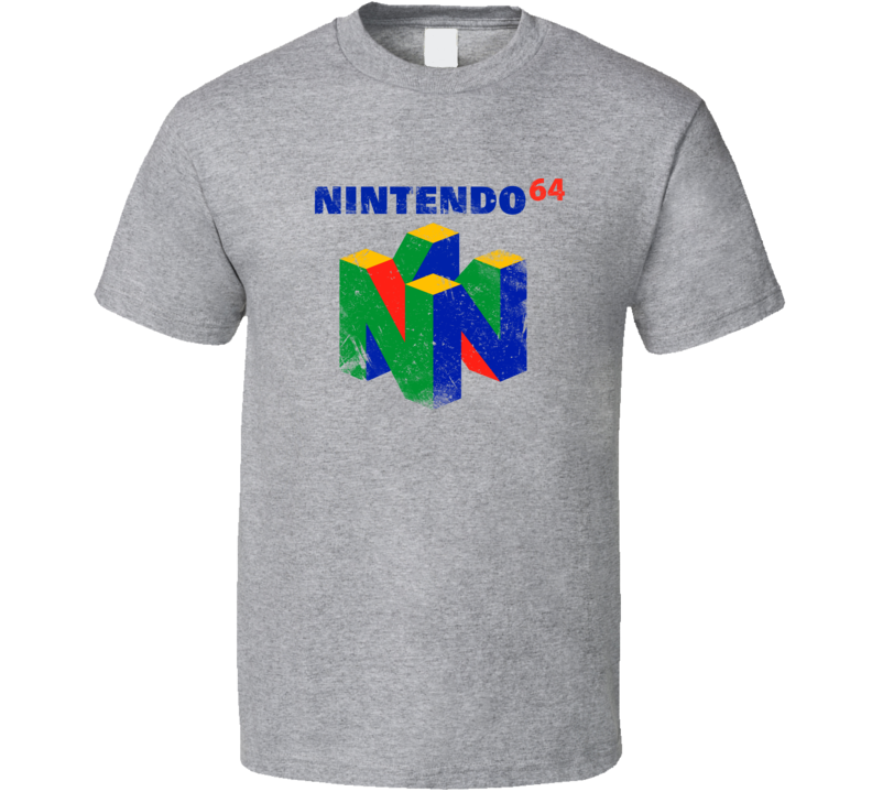 Retro Nintendo 64 Grunge T Shirt