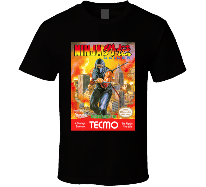 Ninja Gaiden NES Game Cover T Shirt
