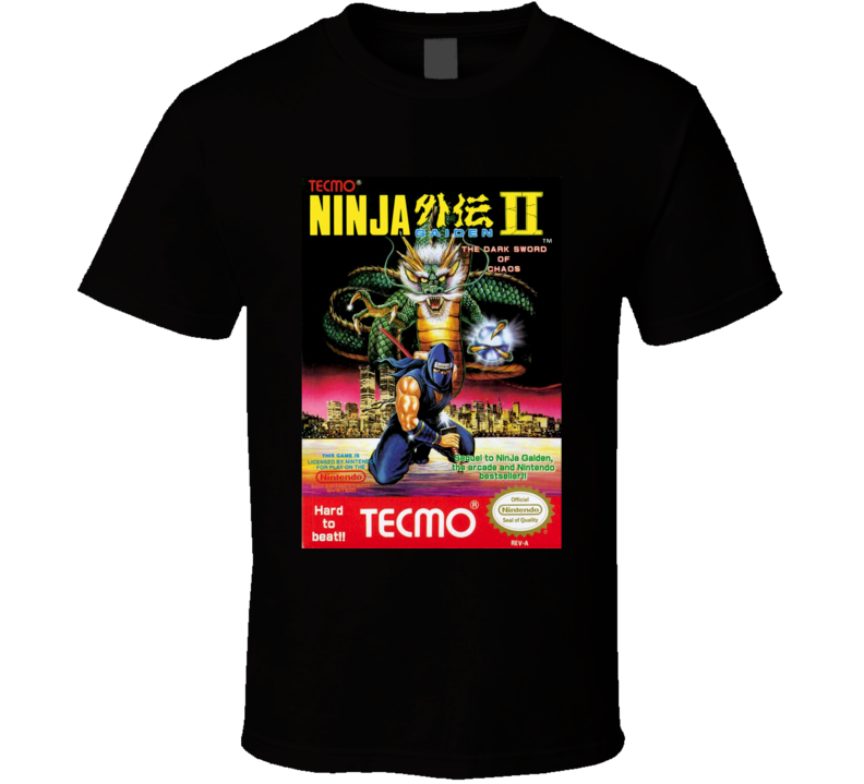Ninja Gaiden 2 NES Game Cover T Shirt