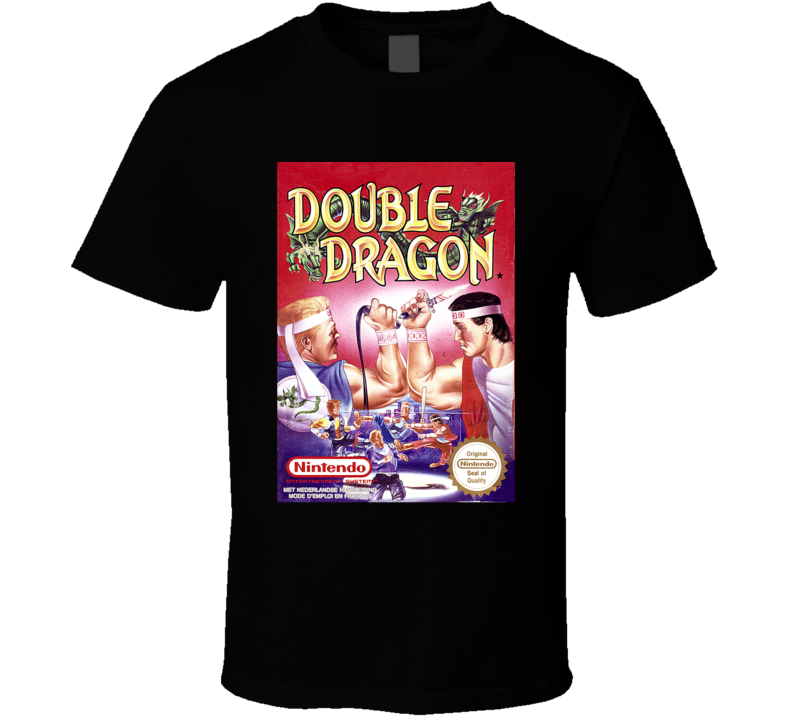 Double Dragon NES Game Cover T Shirt