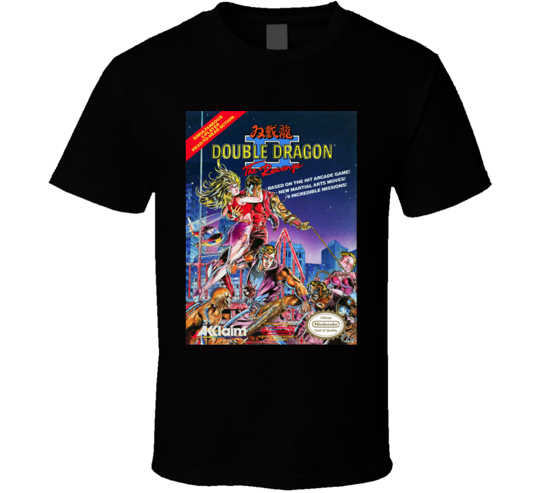 Double Dragon 2 NES Game Cover T Shirt