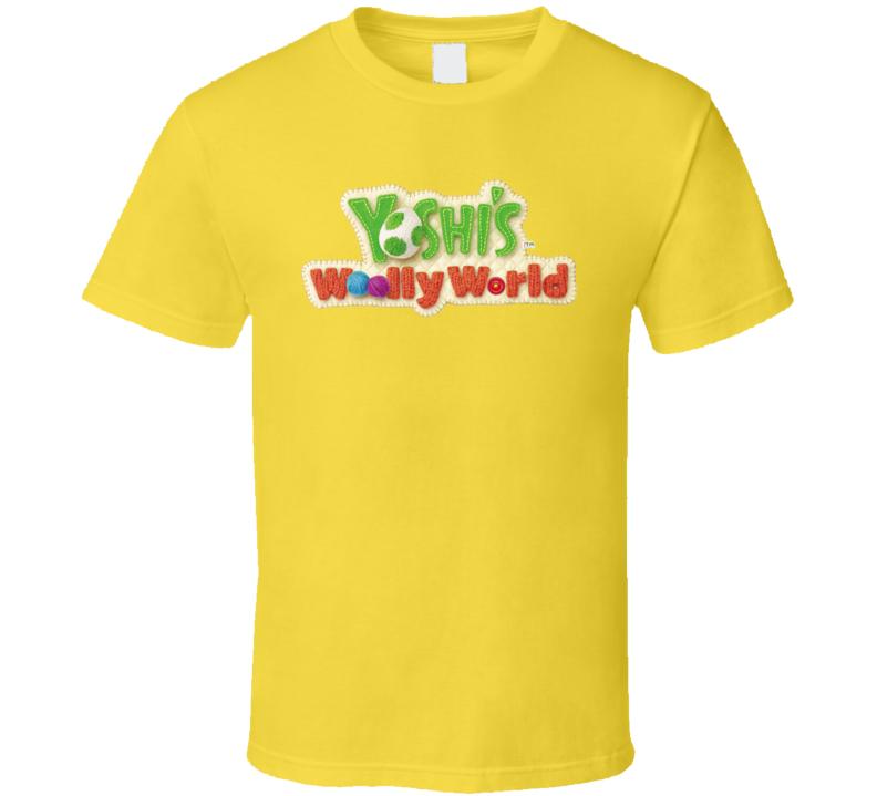Yoshi's Woolly World Logo T Shirt