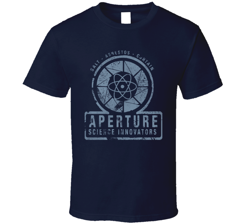 Aperture Science Blue Logo Portal T Shirt