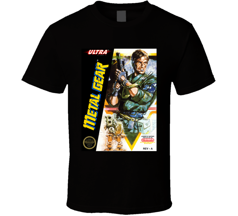 Metal Gear NES Game Cover T Shirt