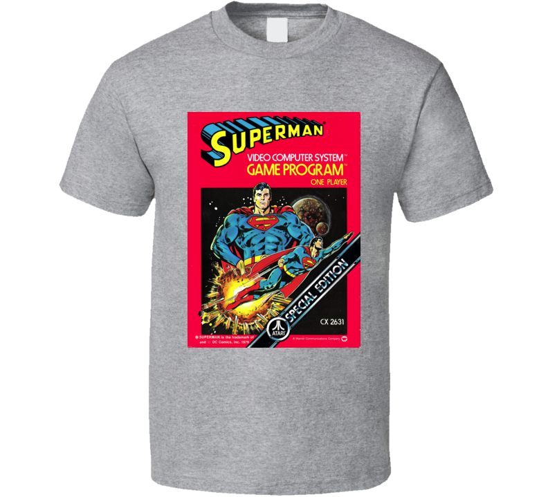 Superman Atari 2600 Game Cover T Shirt