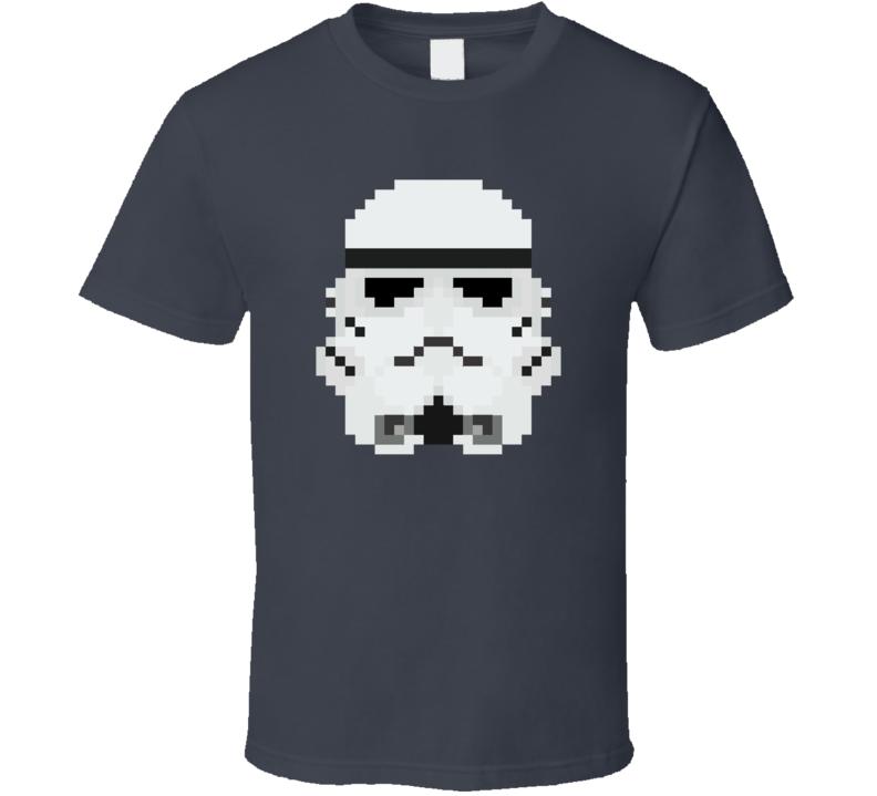 Stormtrooper Helmet 8-Bit T Shirt