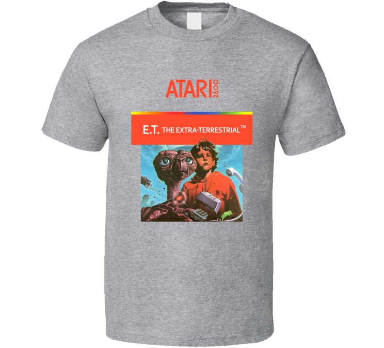 E.T. The Extra Terrestrial Atari Game Cover T Shirt