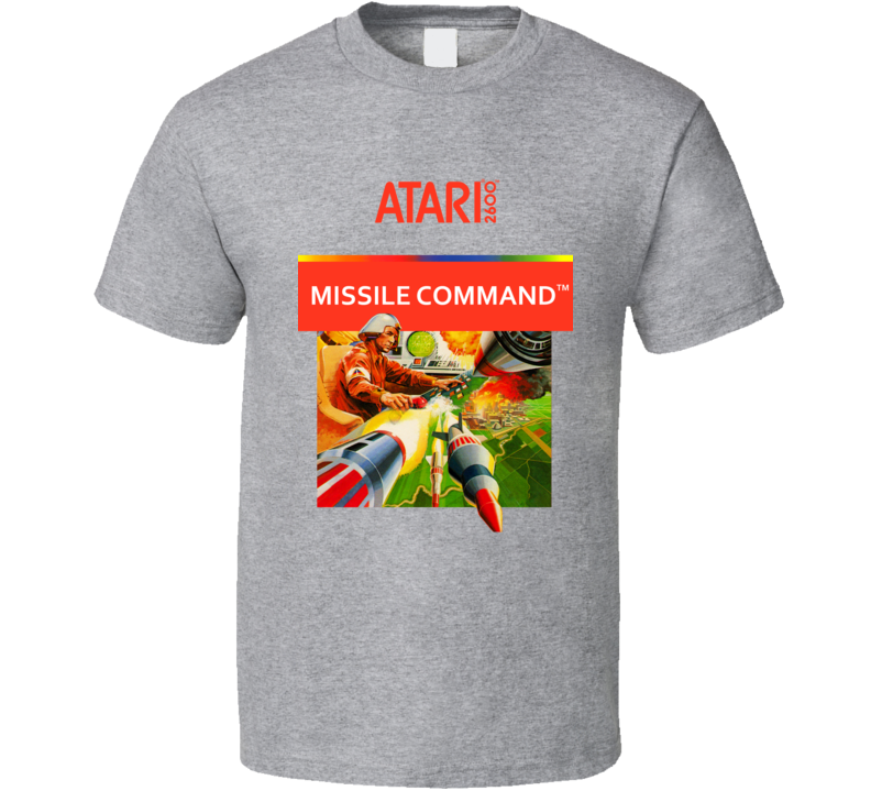 Missile Command Atari 2600 Game Cover T Shirt