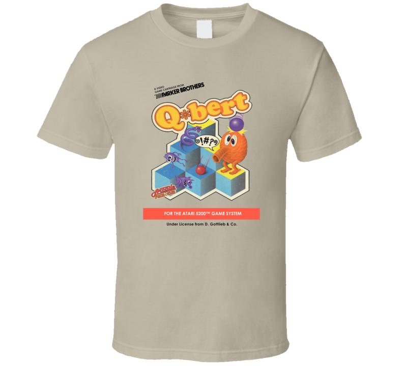 Q*Bert Atari Cover T Shirt