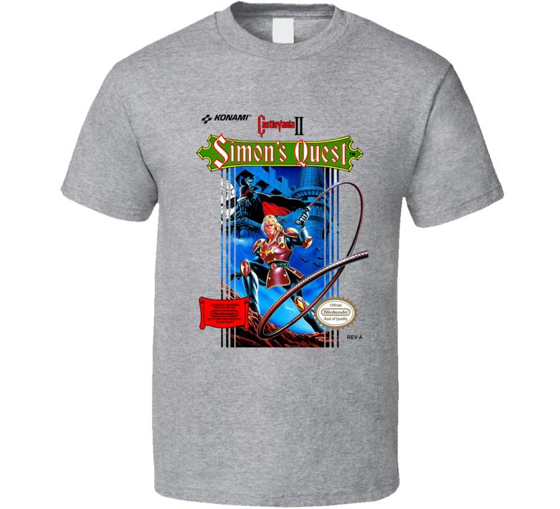 Castlevania Simon's Quest Cover Nintendo T Shirt