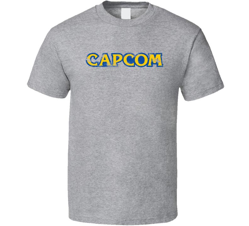 Capcom Logo Grunge Style T Shirt