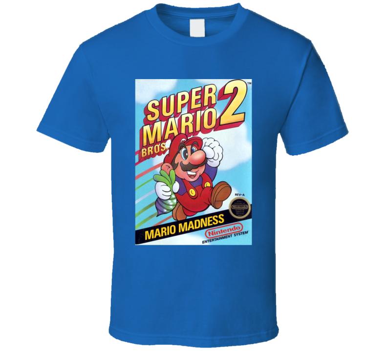 Super Mario 2 NES Game Cover T Shirt