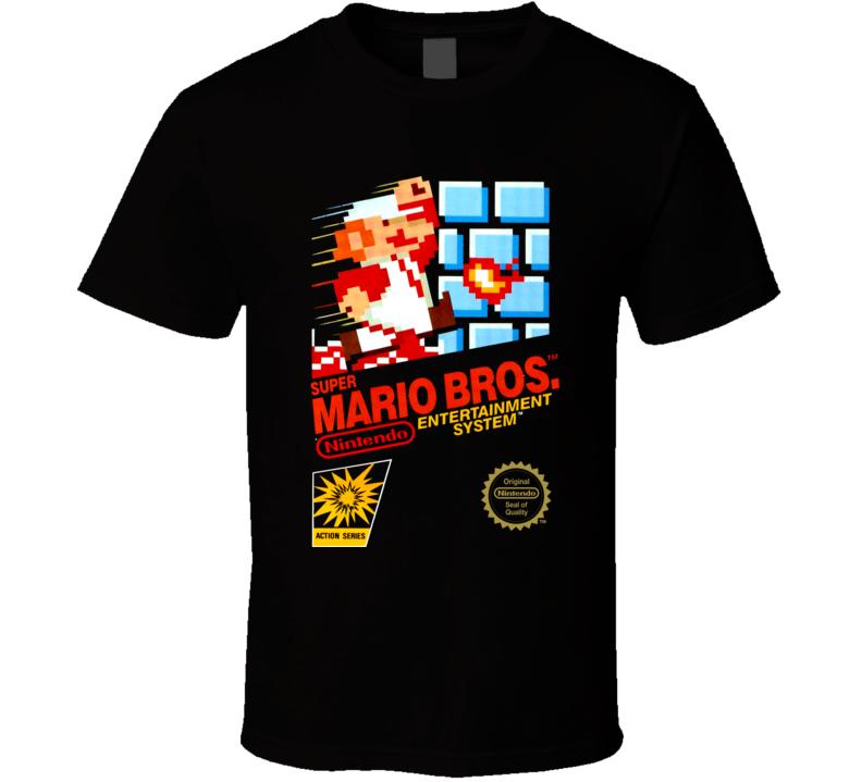 Super Mario Bros NES Cover T Shirt