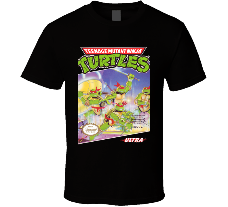 Teenage Mutant Ninja Turtles TMNT NES Cover T Shirt