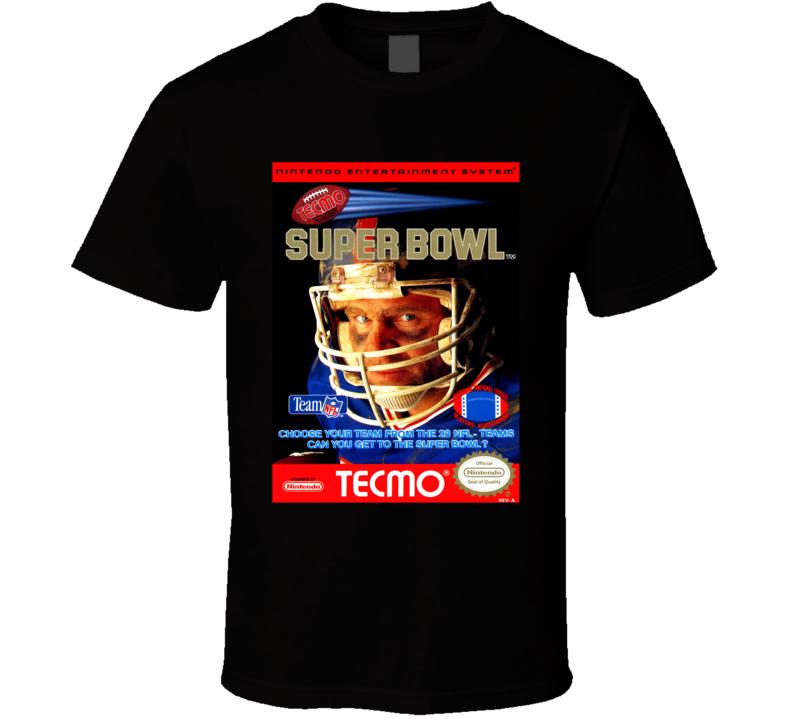 Tecmo Super Bowl Nintendo Cover Art T Shirt
