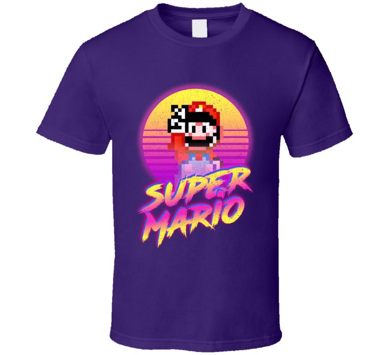Super Mario Synth Retro 80's T Shirt