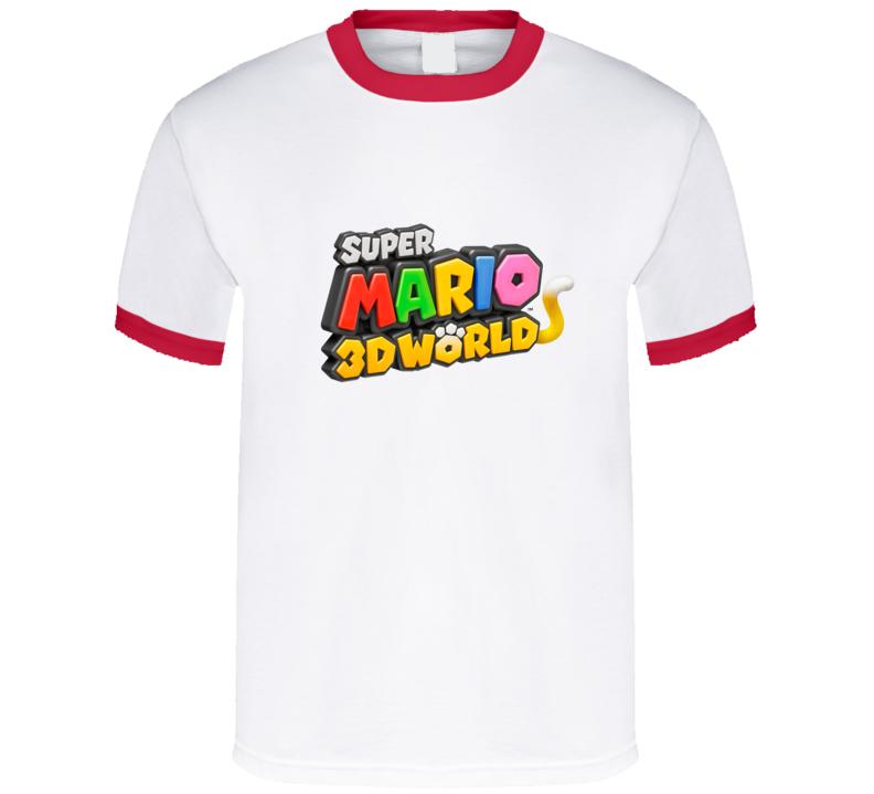 Super Mario 3d World Logo T Shirt