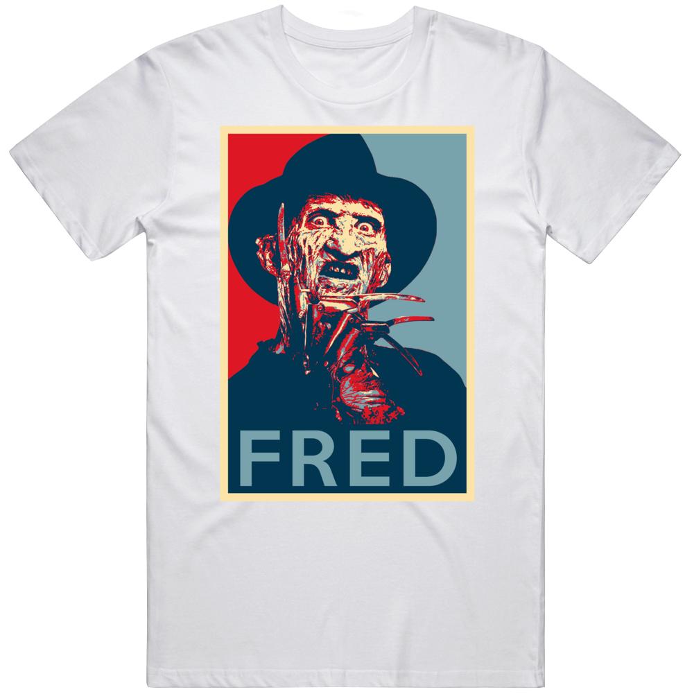 Freddy Kreuger Fred Horror Villain Movie Fan Hope T Shirt
