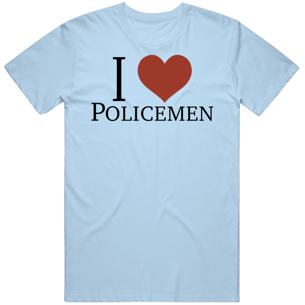 I Love Heart Policemen As Seen On Paris Hilton T Shirt