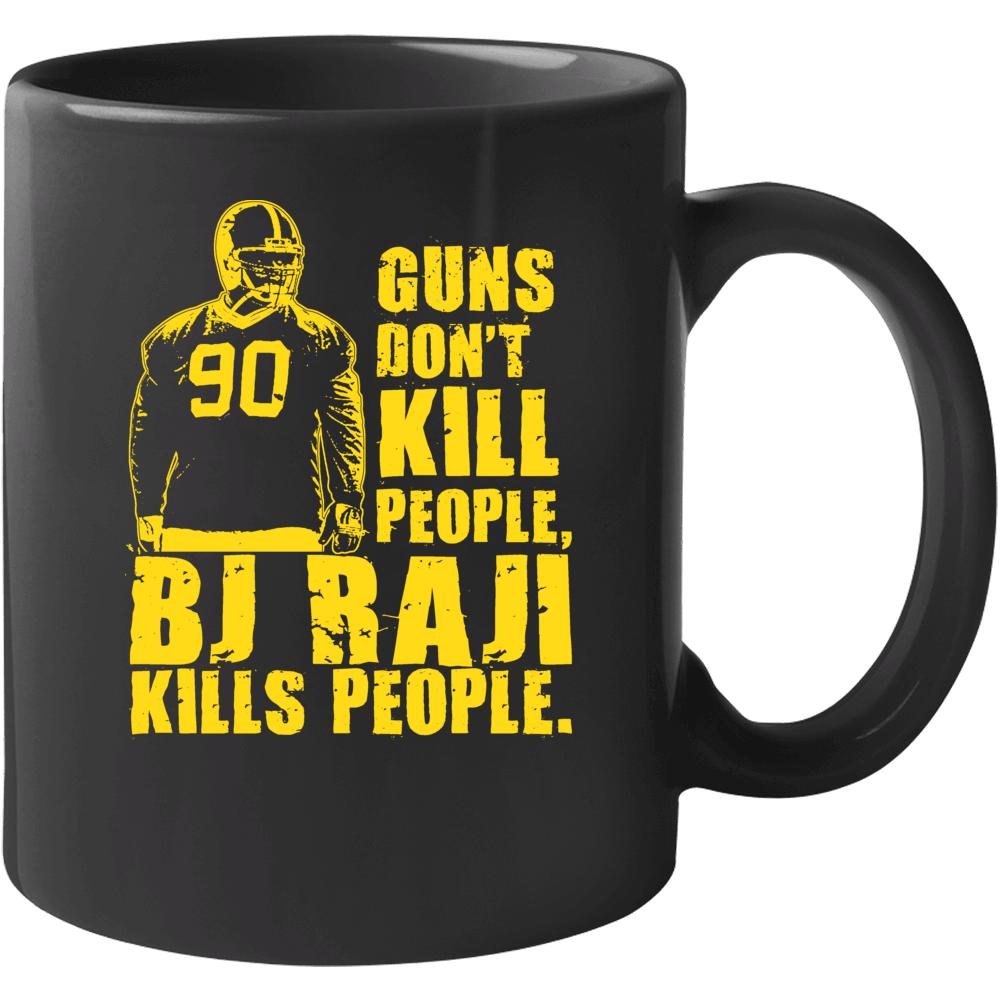 Bj Raji Green Bay Football Guns Dont Kill People Mug