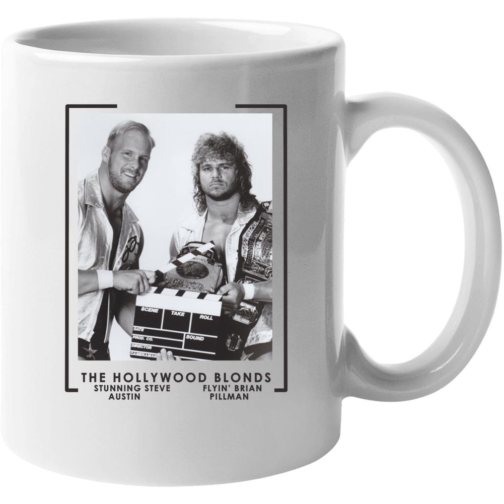 The Hollywood Blonds Steve Austin Brian Pillman Wrestling Mug