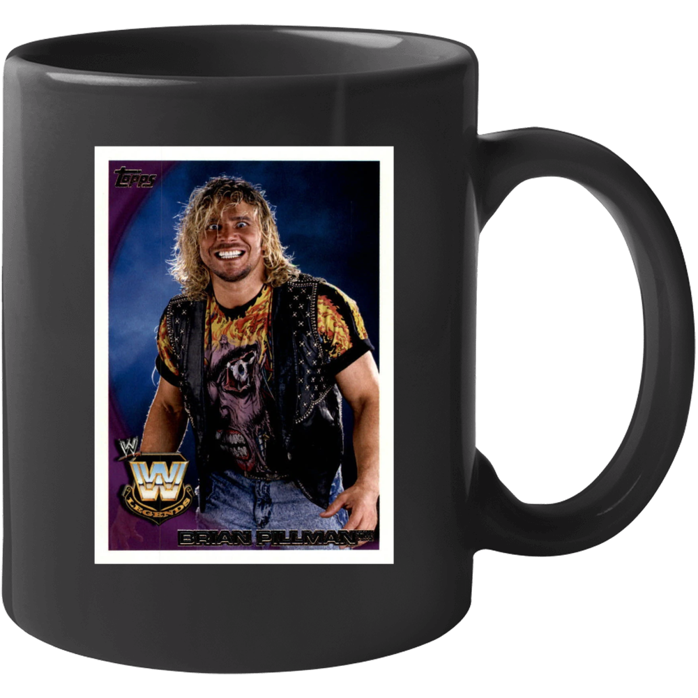 Brian Pillman Wrestler Sports Card Pro Wrestling Mug