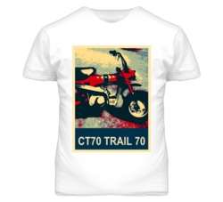 HONDA CT70 Trail 70 Abstract  Hope Style Motorcycle T Shirt