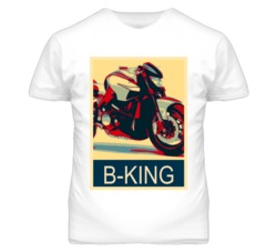SUZUKI B-King Abstract  Hope Style Motorcycle T Shirt