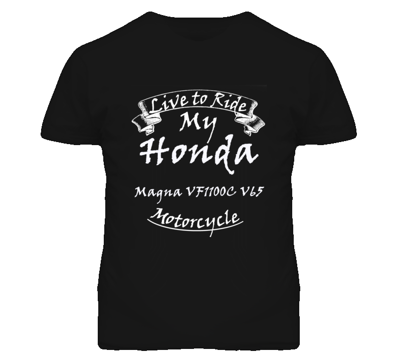 Live To Ride My Honda Magna VF1100C V65 Motorcycle Faded Look T Shirt