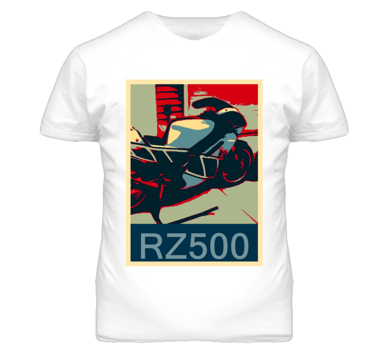 YAMAHA RZ500 Abstract  Hope Style Motorcycle T Shirt