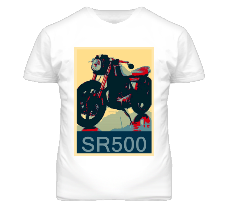 YAMAHA SR500 Abstract  Hope Style Motorcycle T Shirt