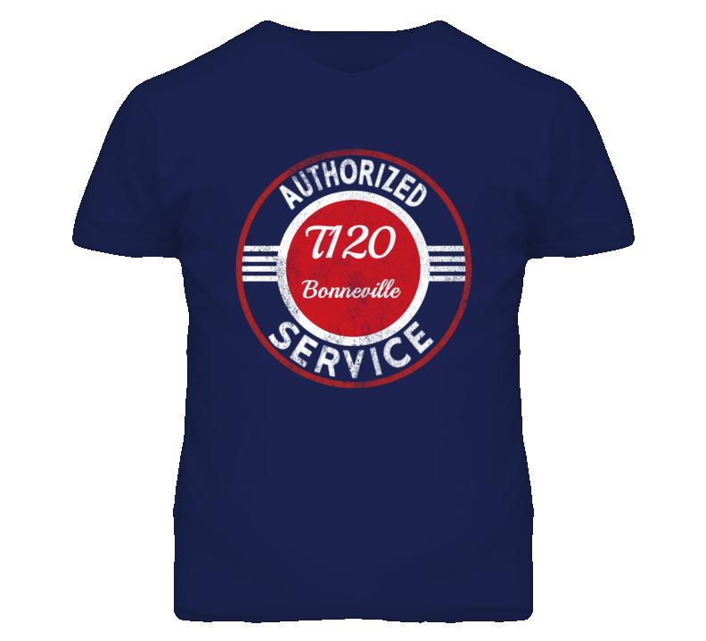 Triumph T120 Bonneville Authorized Service Vintage Distressed Look T Shirt