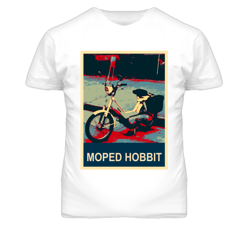 HONDA Moped Hobbit Abstract  Hope Style Motorcycle T Shirt